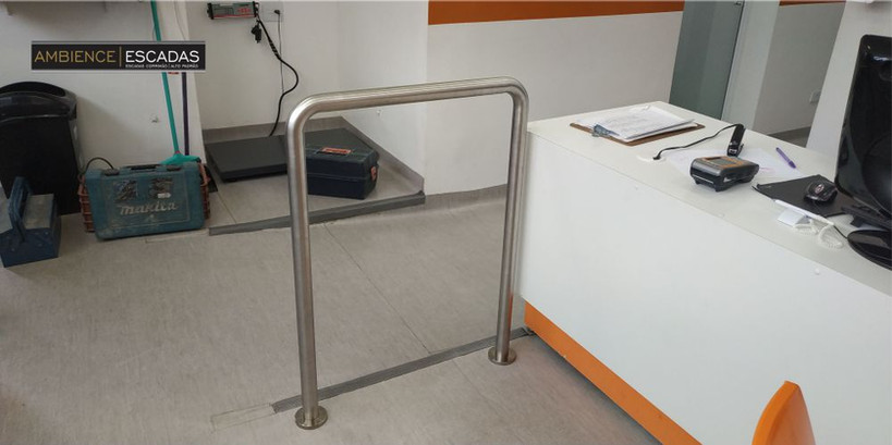 guarda corpo inox acessibilidade