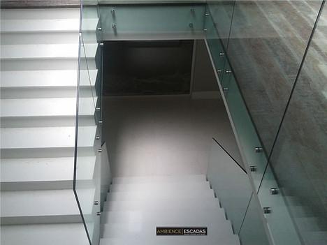 Guarda corpo para escada em vidro