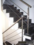 Guarda corpo em inox polido para escada