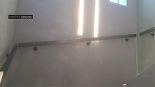 Corrimão de parede retangular