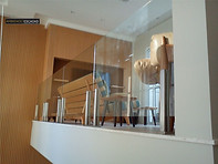 Guarda corpo colunas inox e vidro