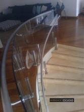 Guarda corpo vidro curvo mezanino
