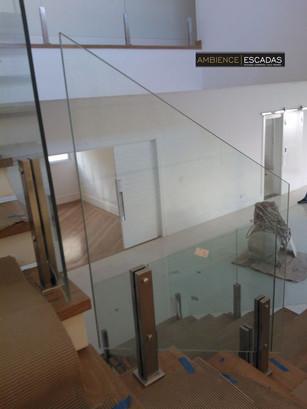 Guarda corpo de vidro torres inox