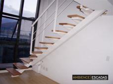 Escada metálica reta espinha de peixe