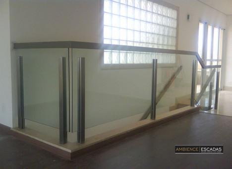 Guarda corpo inox vidro mezanino