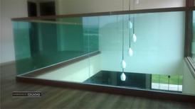 Guarda corpo vidro verde