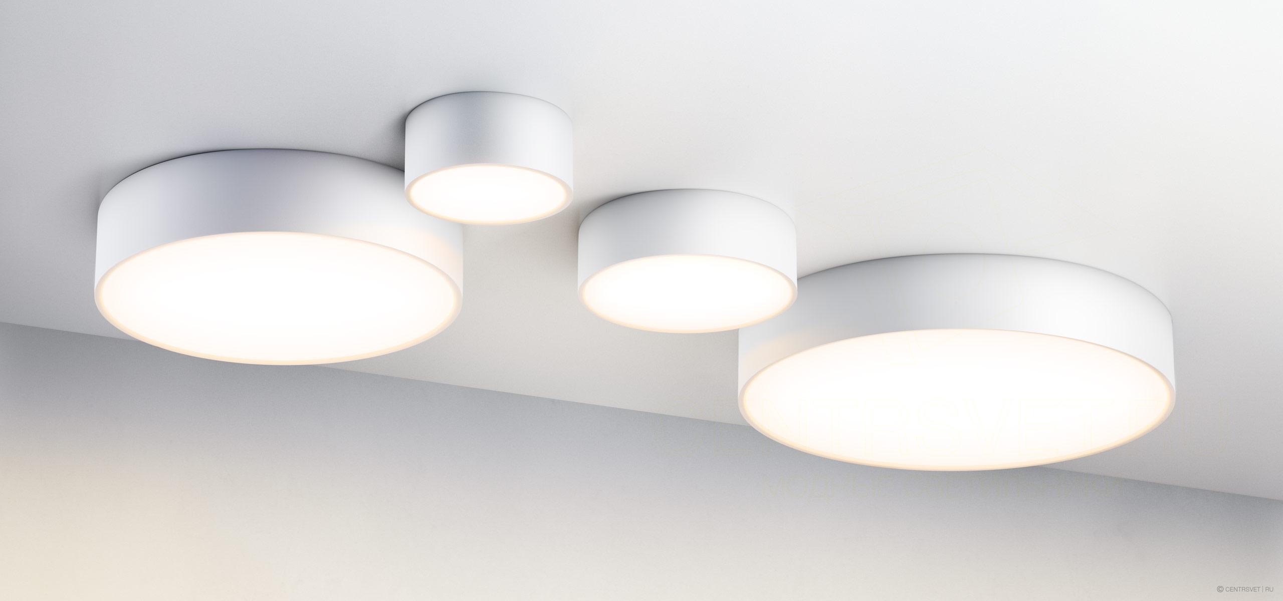 Потолочный светильник на кухне