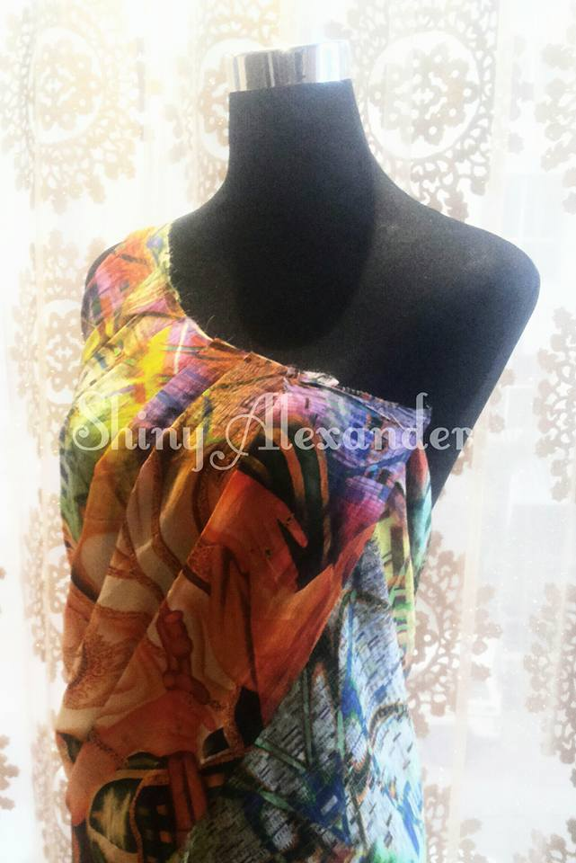 5_Limited edition digital print drape gowns