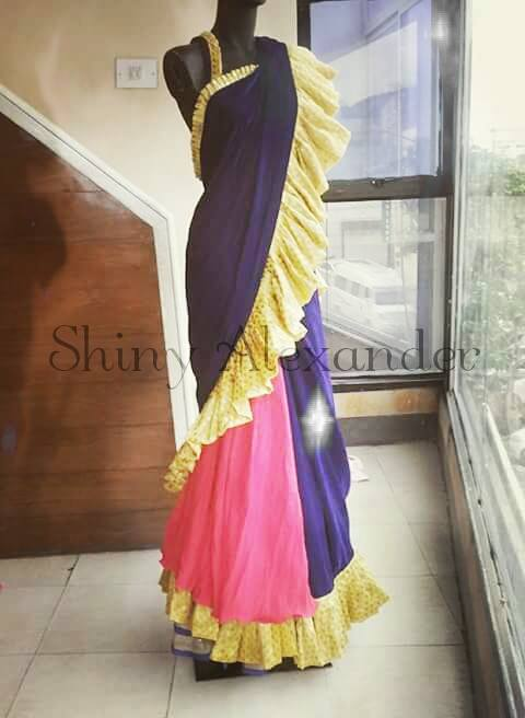 10_Stunning 23mtrs lehenga saree for a special occasion just as special as you.....