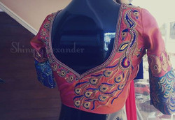 Zari, stone and thread work.... Bridal blouses