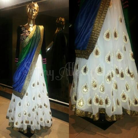 7_Customised Creme georgette lehenga