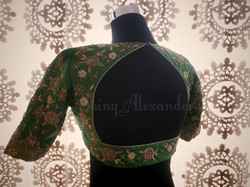 Customised bridal blouse with zardozi hand work