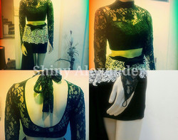 30_Style it up with the black french lace crop top (customized)