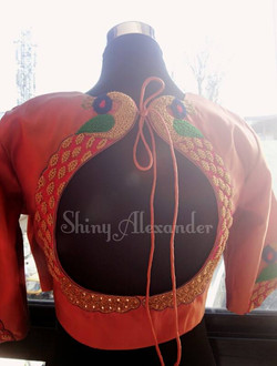 Customised bridal kajeevaram blouse