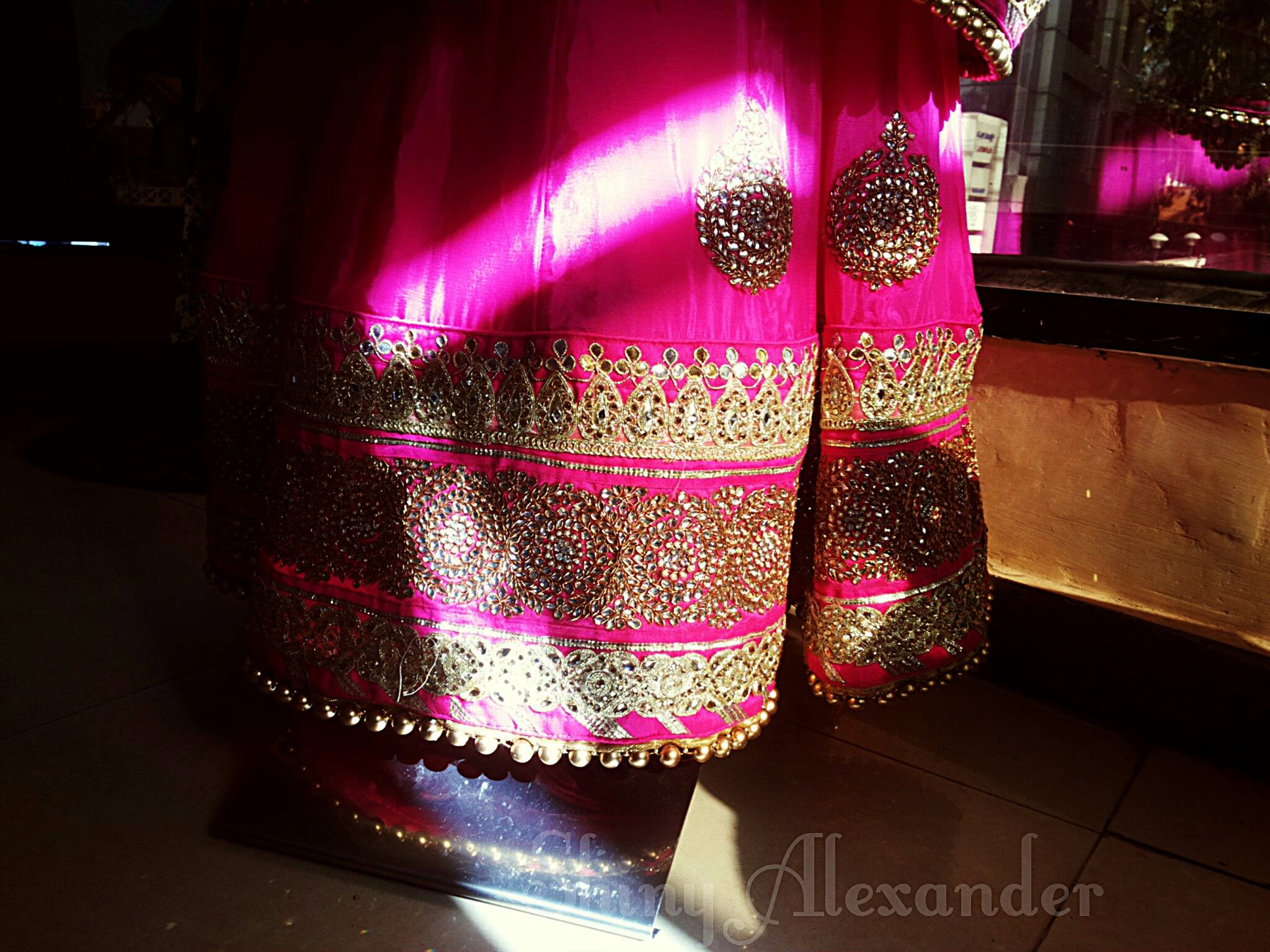 Customised bridal lehenga in shiffon