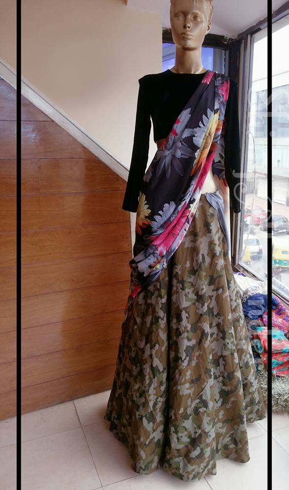 9_Unconventional camouflage print lehenga.... Because anything regular is not YOU