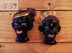 hand made tribal hand painted wall hangings_