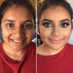 How gorgeous is this girl, #BeforeAndAfter!_ She's all dolled up for her #Prom tonight! Have fun dar