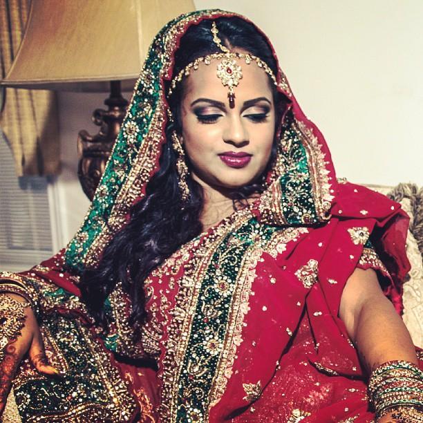 My beautiful bride! #MakeupByDivineBeauty #BoldAndBeautiful #BlendThatShit #IndianBride #ILoveMyJob