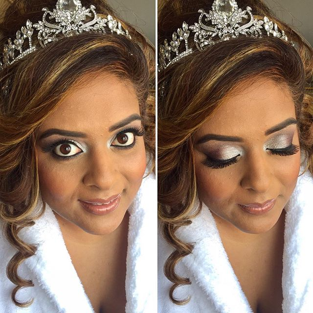 It's #Wedding #Reception time with this #beauty! Loved her #WinterWedding theme!  #MakeupByDivineBea