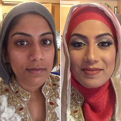 Another #Beauty all ready for her #Engagement! Such a sweetie!  #MakeupByDivineBeauty #HijabiBride #