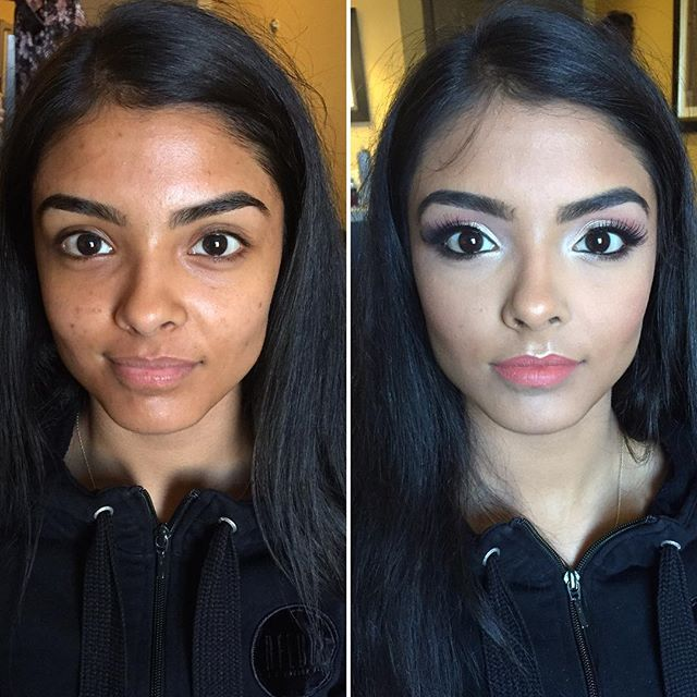 A soft glam on this #Bridesmaid! Such a #Beauty!!_#MakeupByDivineBeauty #MakeupTransformation #Befor