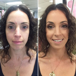 A very soft look for this #Bridesmaid! #MakeupByDivineBeauty #MakeupTransformation #BeforeAndAfter #