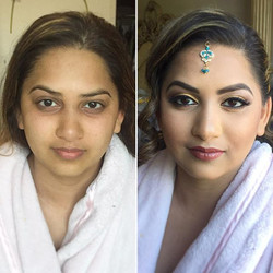 This darling wanted a more natural look for her #Hindu #Wedding, so we went with a gold and brown li