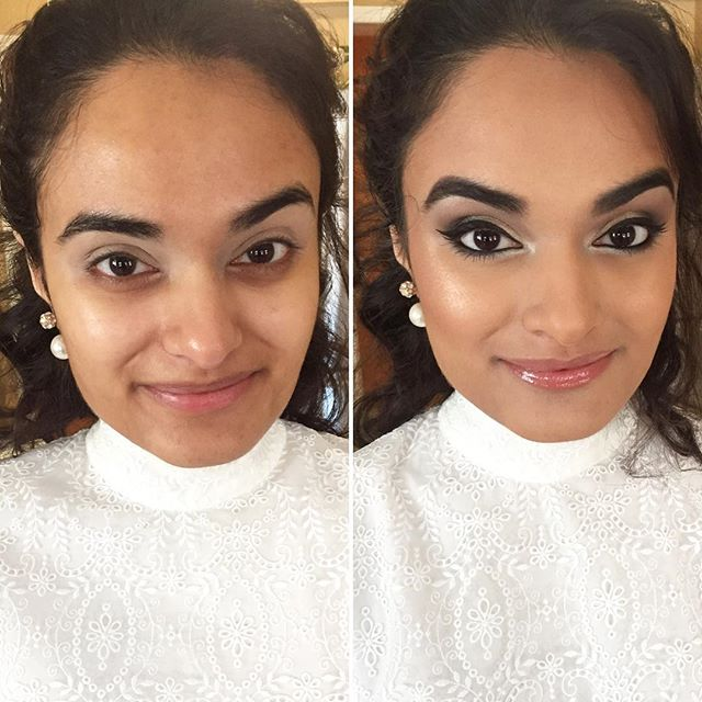 Some #WingedLiner action on this beauty! #MakeupByDivineBeauty #MakeupTransformation #BeforeAndAfter