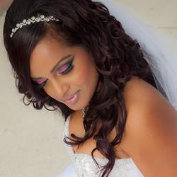 How gorgeous is she!_ #MakeupByDivineBeauty #BoldAndBeautiful #Bride #NoFilter #BlendThatShit..