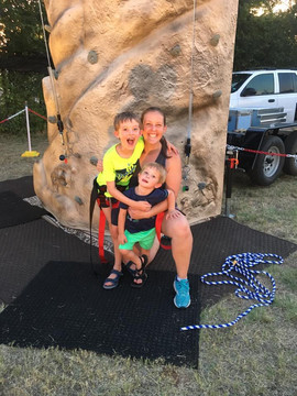Families that climb together have fun together.