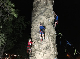 Just a little night climbing.  We have enough lights to climb by.