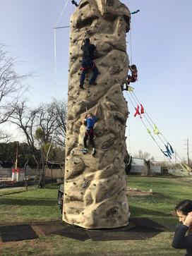 Climbers having fun at Play Faire Park