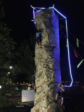 Climbing at night is a totally different