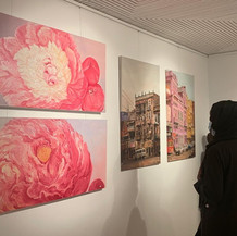 Peony Paintings at Dubai show