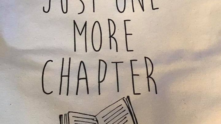 Just One More Chapter Canvas Tote