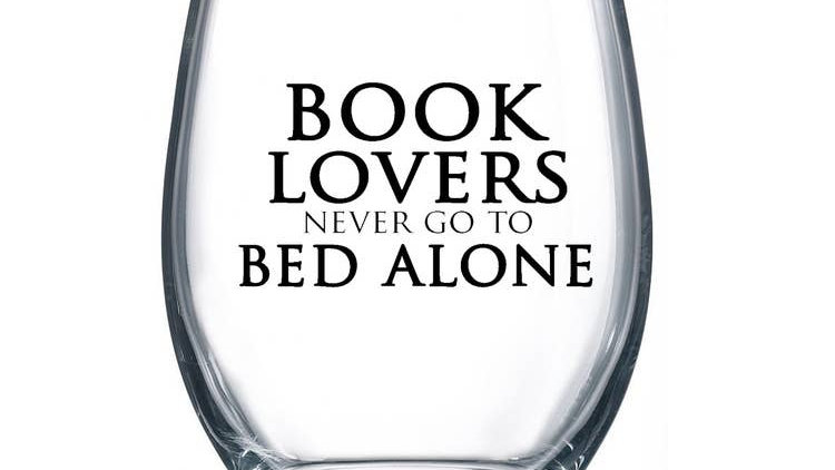 Book Lovers Wine Glass