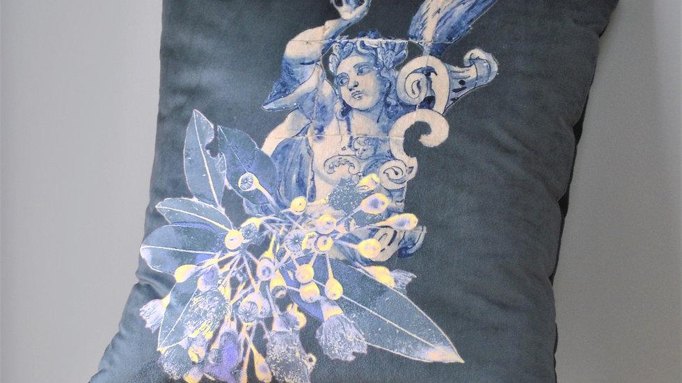 Velvet Happier Angel Cushion Cover