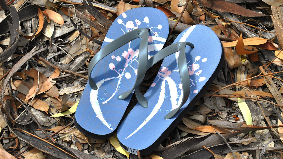 Long Gum Leaves Thongs