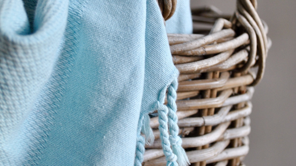 Duck Egg Stone Washed Towel