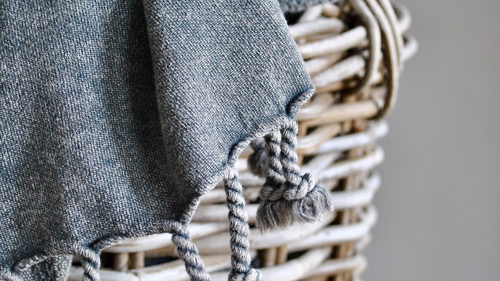 Grey Stone Washed Towel