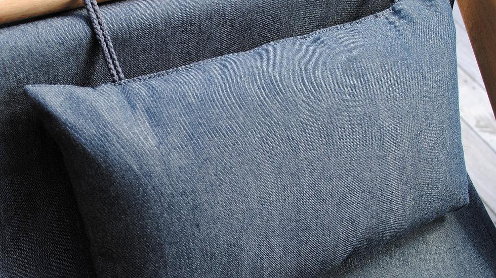 Charcoal Head Cushion with ties