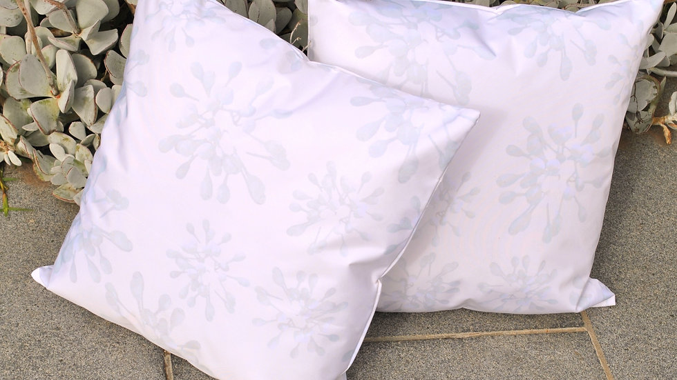 Grey Gum Buds Outdoor Cushion