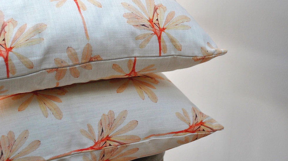 Orange Leaves Cushion Cover