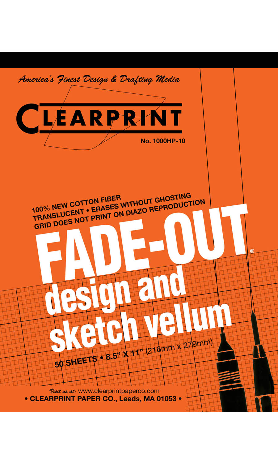 "Clearprint Fade-Out 8.5""x11"""