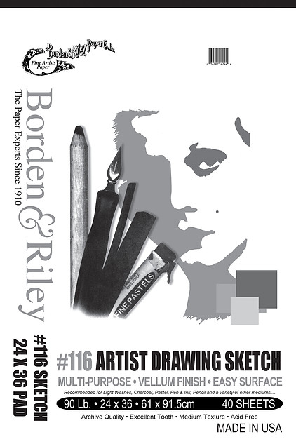24x36 #116 Artist Drawing Sketch Vellum