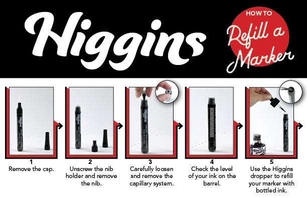 Refill Your Higgins Marker