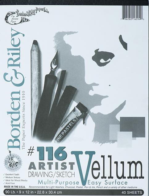 9x12 #116 Artist Drawing Sketch Vellum