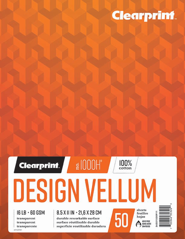 """Design Vellum 8.5""""x11"""""""