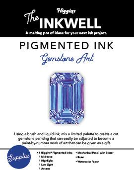 Pigmented Ink Gemstone Art